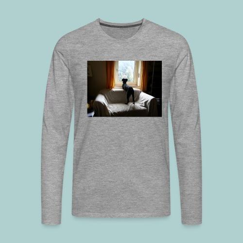 Kaline im Fenster - Männer Premium Langarmshirt