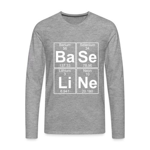 Ba-Se-Li-Ne (baseline) - Full - Men's Premium Longsleeve Shirt