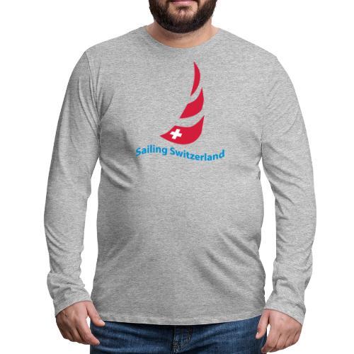 logo sailing switzerland - Männer Premium Langarmshirt