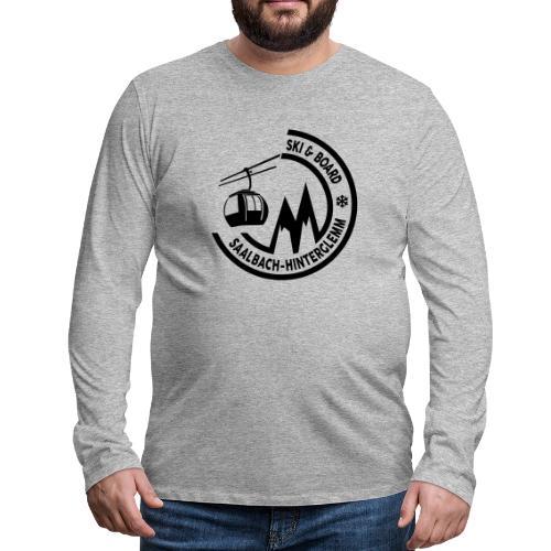 Ski & Board embleem Saalbach Hinterglemm - Mannen Premium shirt met lange mouwen