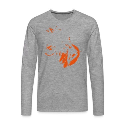 White Iris - Långärmad premium-T-shirt herr
