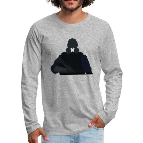 Mute - Koszulka męska Premium z długim rękawem