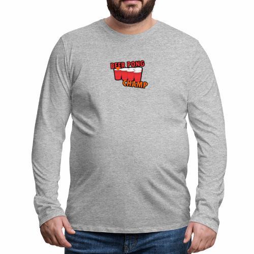 Beer Pong Champion - Männer Premium Langarmshirt