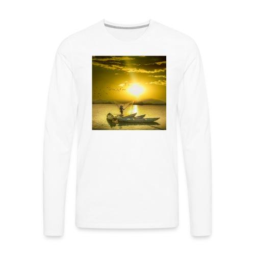 Tramonto - Maglietta Premium a manica lunga da uomo