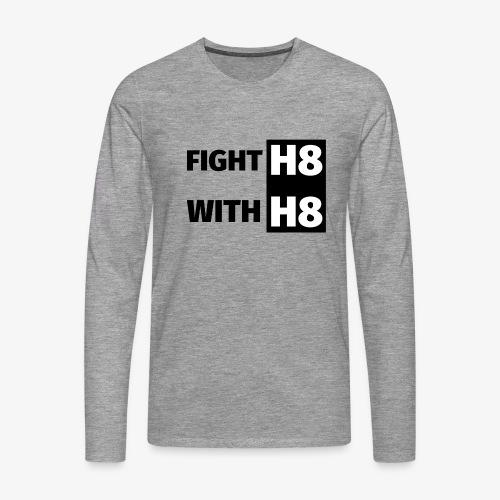 FIGHTH8 dark - Men's Premium Longsleeve Shirt