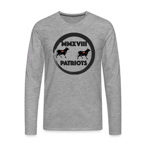 Patriots mmxviii - Camiseta de manga larga premium hombre