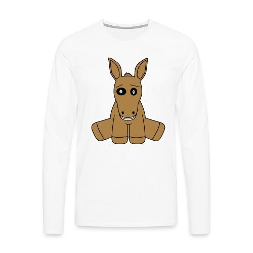 horse - Maglietta Premium a manica lunga da uomo