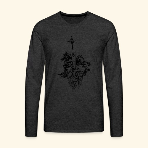 la nature du coeur - T-shirt manches longues Premium Homme