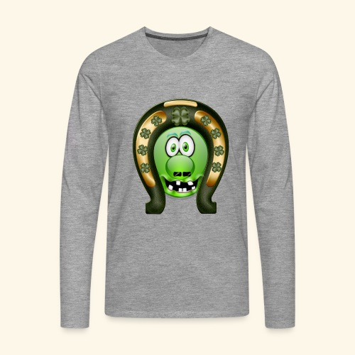 Mrs Saint Patricks green and gold clover decorated - Men's Premium Longsleeve Shirt
