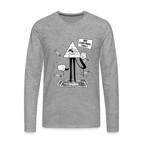 We Control You - Conspiration Design - T-shirt manches longues Premium Homme