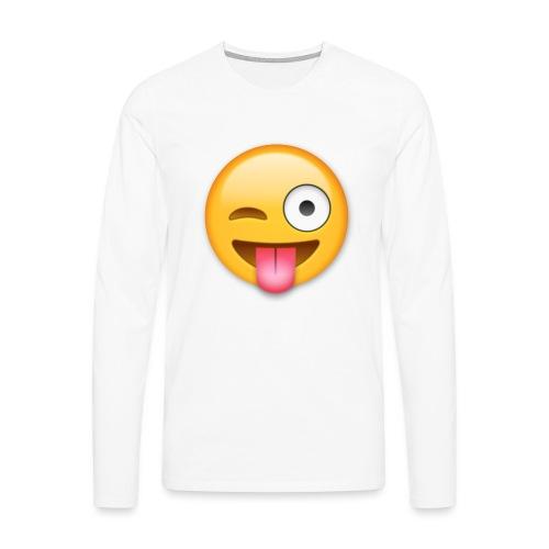 Winking Face - Männer Premium Langarmshirt