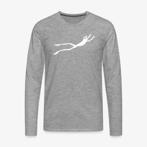 White Frog - Premium langermet T-skjorte for menn