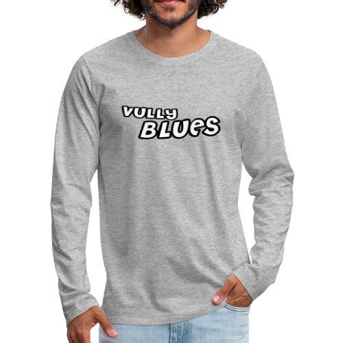 Logo Vully Blues Classic Schwarz Weiß - Männer Premium Langarmshirt