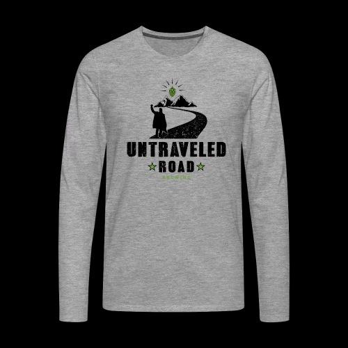 Untraveled Road Logo - black/small - Männer Premium Langarmshirt