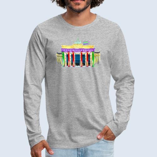 "Berlin ""Brandenburger Tor"" PopArt Design - Männer Premium Langarmshirt"