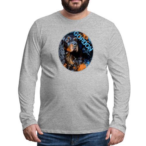 Gordon Setter Splash II - Miesten premium pitkähihainen t-paita