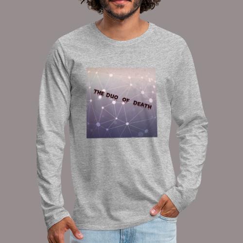 The duo of death logo - Mannen Premium shirt met lange mouwen