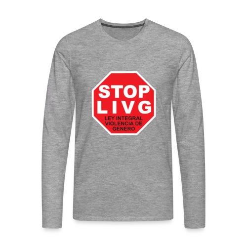 Stop LIVG Ley integral de violencia de Género - Camiseta de manga larga premium hombre