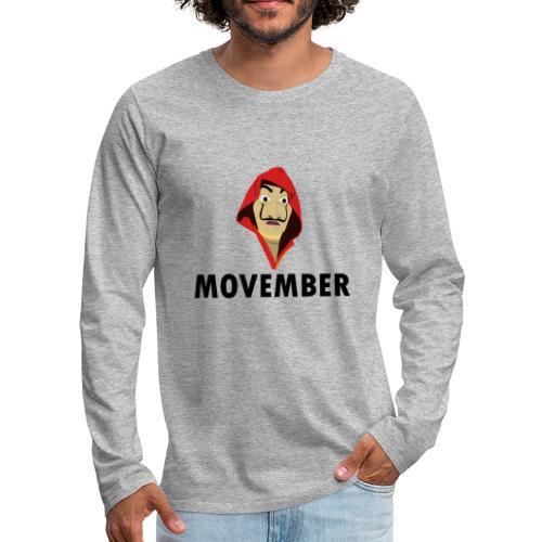 Le mois de la moustache - T-shirt manches longues Premium Homme