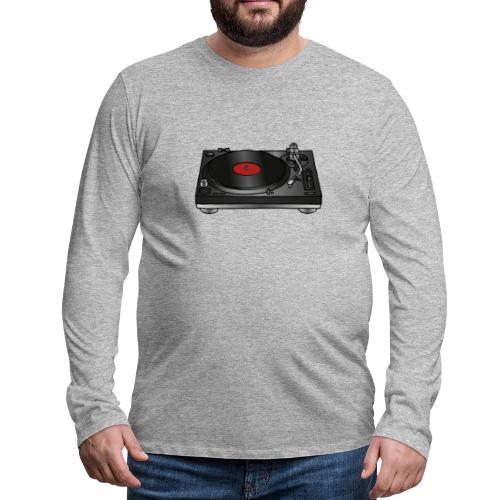 Plattenspieler VINYL - Männer Premium Langarmshirt