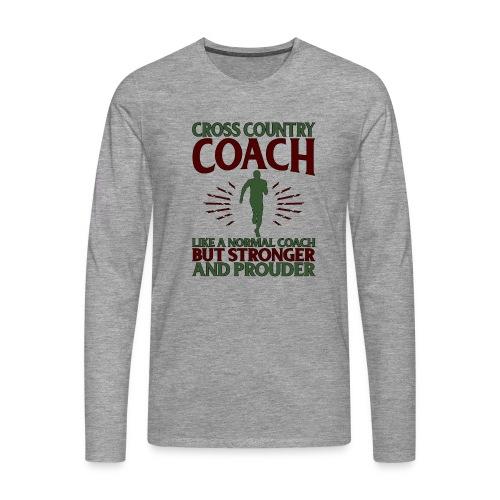 Cross Country Coach Gift Cross Country Coach Like - Men's Premium Longsleeve Shirt