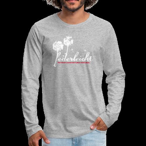 geweihbär Federleicht - Männer Premium Langarmshirt