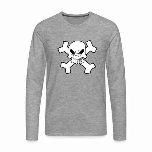 Craneo - Camiseta de manga larga premium hombre