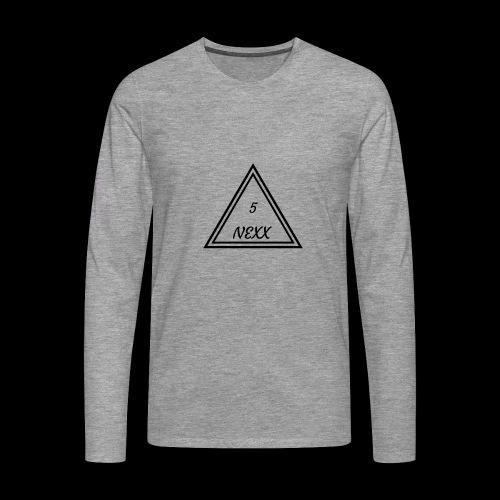 5nexx triangle - Mannen Premium shirt met lange mouwen