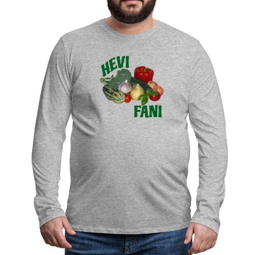 Hevi-fani - Miesten premium pitkähihainen t-paita
