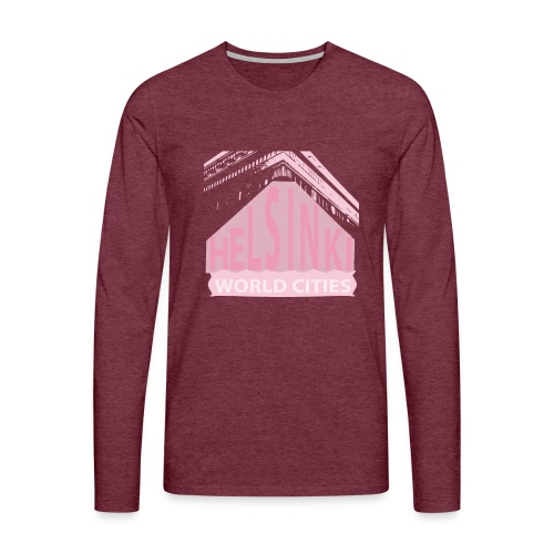 Helsinki light pink - Men's Premium Longsleeve Shirt