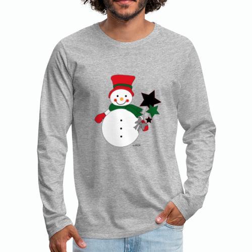 Snowtime-Red - Männer Premium Langarmshirt