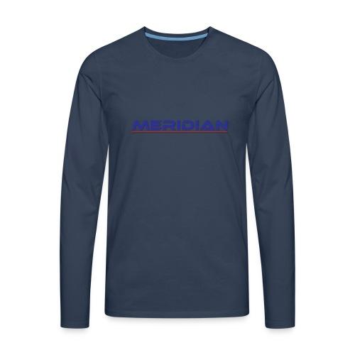 Meridian - Maglietta Premium a manica lunga da uomo