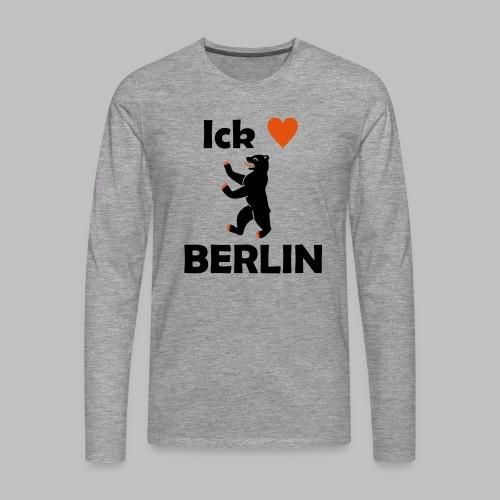 Ick liebe ❤ Berlin - Männer Premium Langarmshirt