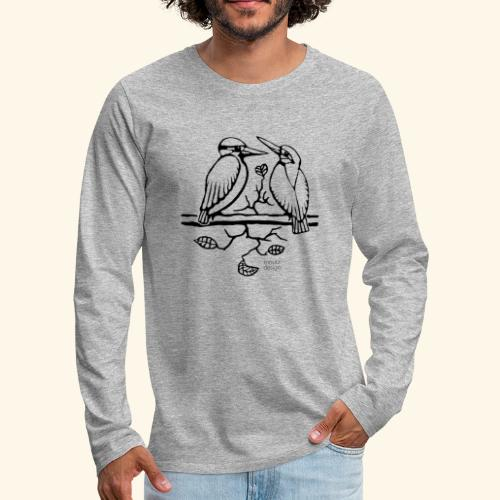Eisvogel Liebe - Männer Premium Langarmshirt