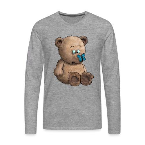 Teddybär - Männer Premium Langarmshirt