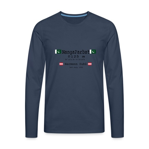 NangaPArbat20-01Black - Maglietta Premium a manica lunga da uomo