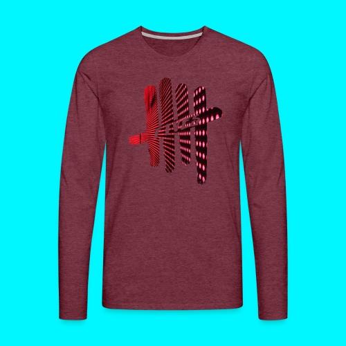 FIVES pink lights - T-shirt manches longues Premium Homme