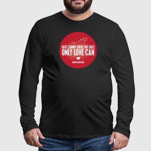 MLK1 png - Herre premium T-shirt med lange ærmer