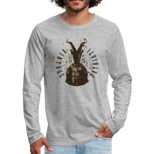 Patrioti Vintage Skenderbeg - Männer Premium Langarmshirt