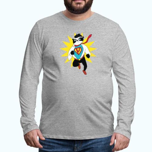 Retro vintage panda - Men's Premium Longsleeve Shirt