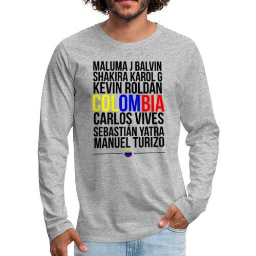 Reggaeton Shirt Kolumbien - Männer Premium Langarmshirt