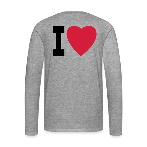 create your own I LOVE clothing and stuff - Men's Premium Longsleeve Shirt