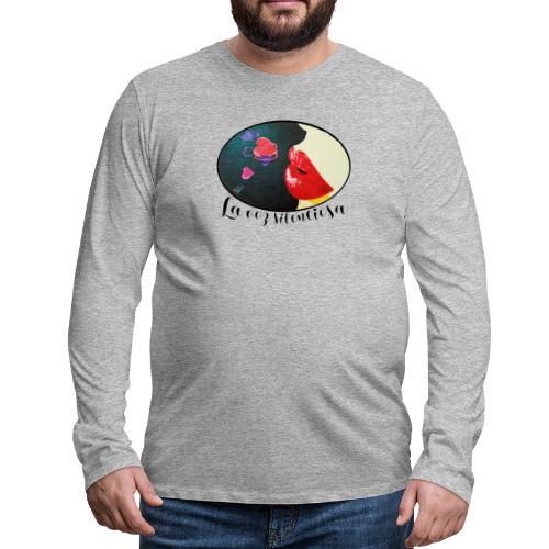 La Voz Silenciosa - Besos - Camiseta de manga larga premium hombre