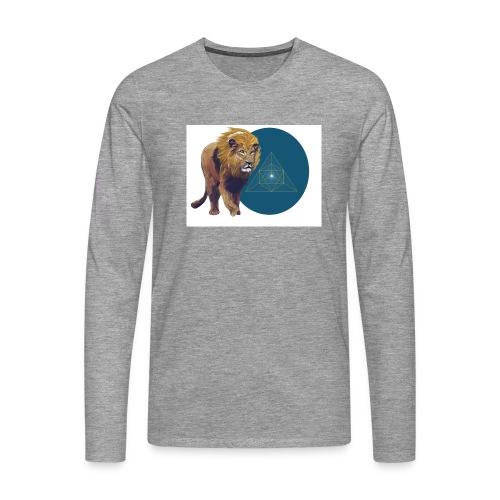 Löwe - Männer Premium Langarmshirt