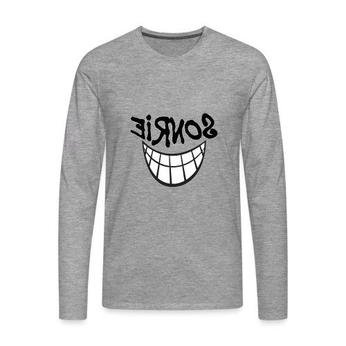 Para el Espejo:Sonrie 01 - Camiseta de manga larga premium hombre