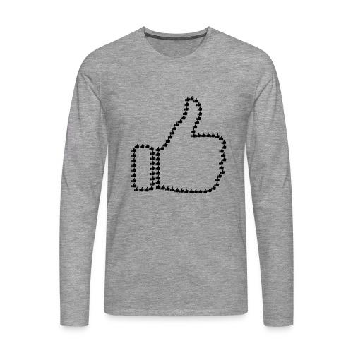 Zustimmung aus Daumen - Männer Premium Langarmshirt
