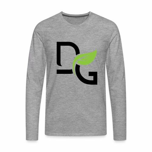 DrGreen Logo Symbol schwarz grün - Männer Premium Langarmshirt