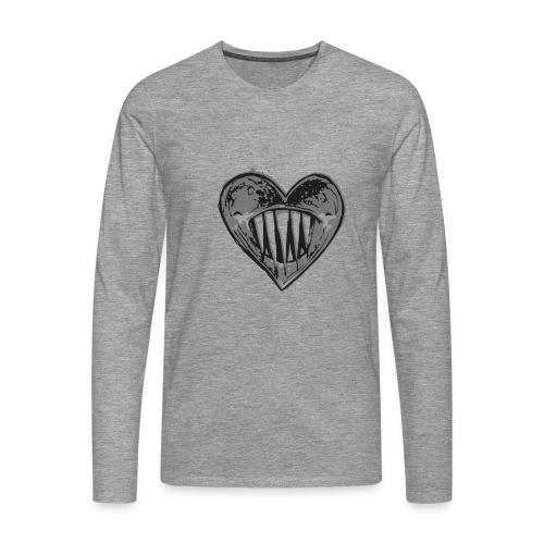 Corazón Negro - Camiseta de manga larga premium hombre