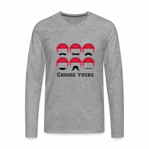 novembre et moustache - T-shirt manches longues Premium Homme