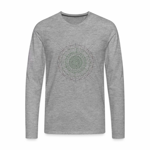 Mandala - Miesten premium pitkähihainen t-paita